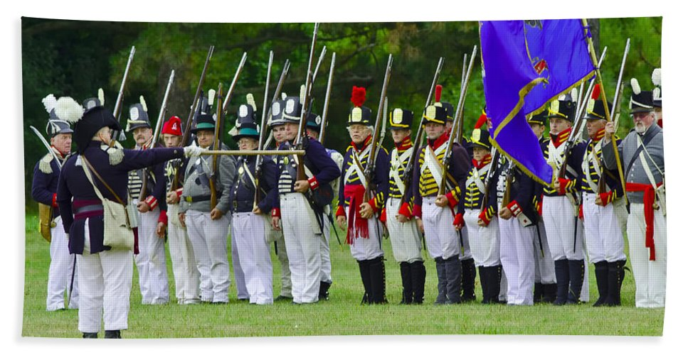 Siege Of Fort Erie Beach Towel featuring the photograph American Line by JT Lewis