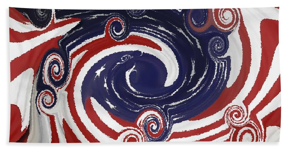 Abstract Beach Towel featuring the photograph Americas Palette by DigiArt Diaries by Vicky B Fuller