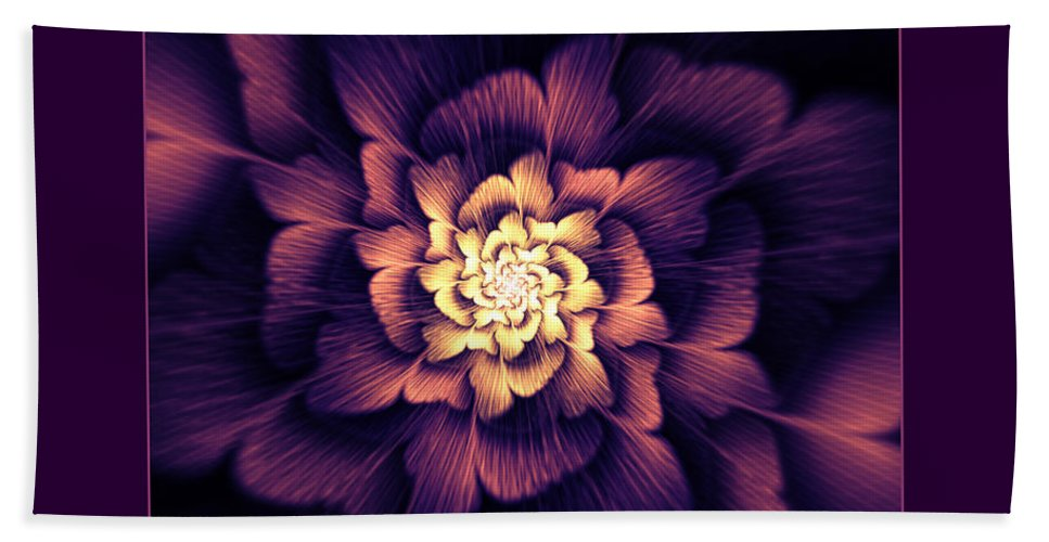 Abstract Beach Towel featuring the digital art Amethyst by Georgiana Romanovna