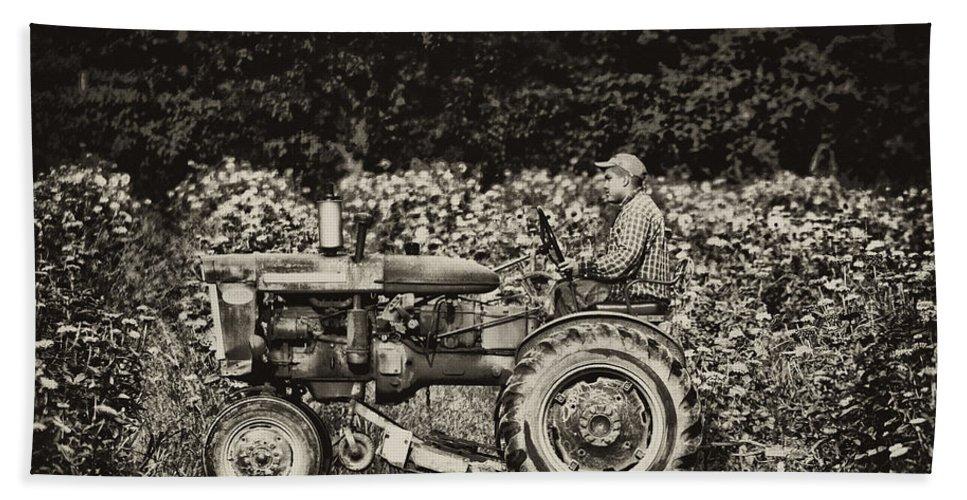 Farm Beach Towel featuring the photograph An American Farmer by Bill Cannon
