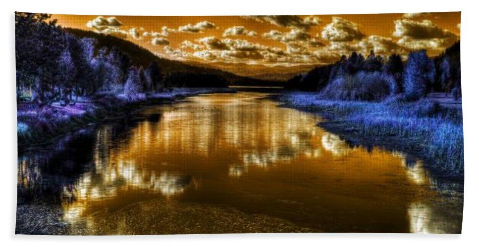 Digital Fantasy Beach Towel featuring the photograph An Idaho Fantasy 2 by Lee Santa