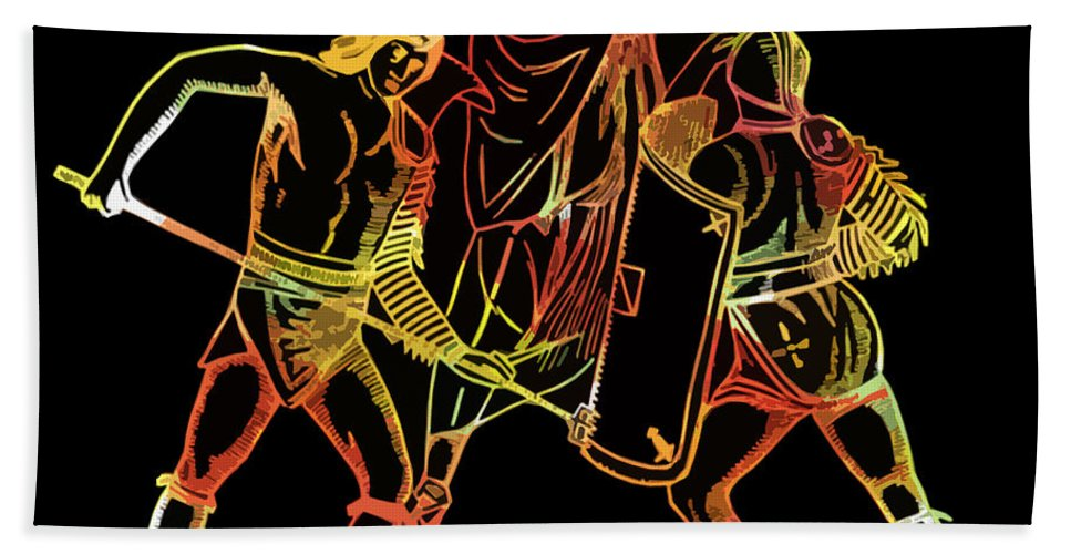 Ancient Beach Towel featuring the photograph Ancient Roman Gladiators by James Hill