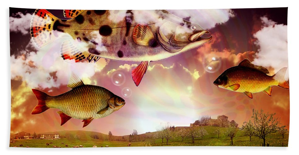 Fish Beach Towel featuring the photograph Angel Fish by Mark Ashkenazi