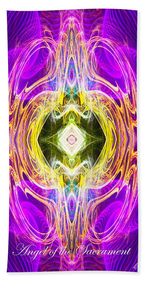 Angel Beach Towel featuring the digital art Angel Of The Sacrament by Diana Haronis