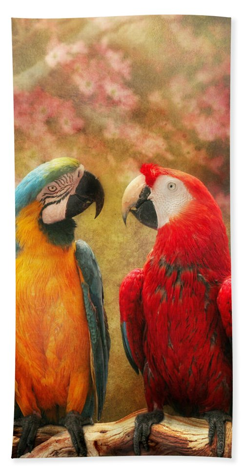 Parrot Beach Towel featuring the photograph Animal - Parrot - We'll Always Have Parrots by Mike Savad