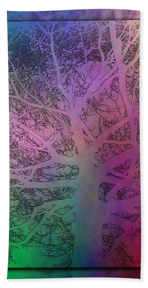 Arbor Beach Towel featuring the digital art Arboreal Mist 1 by Tim Allen