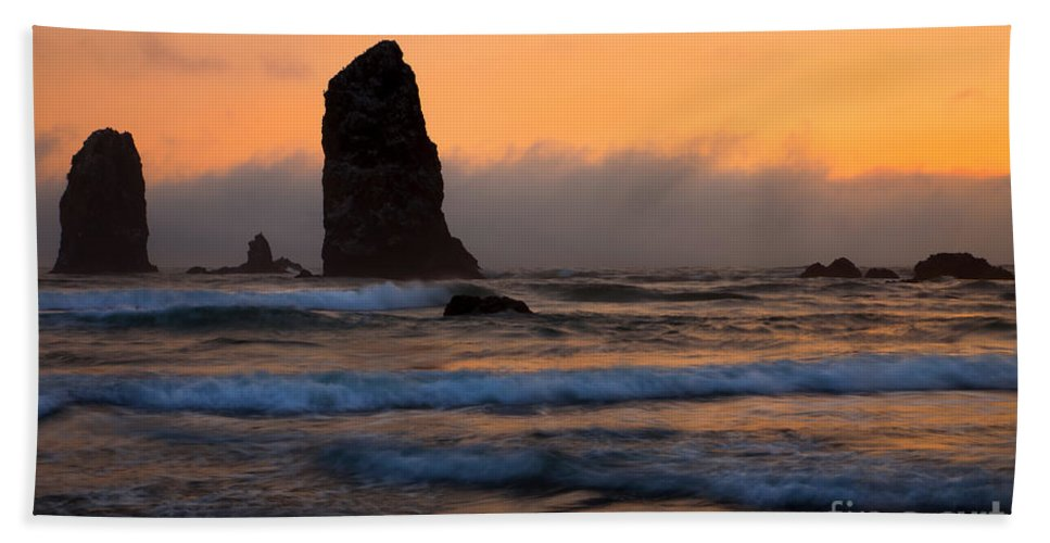 The Needles Beach Towel featuring the photograph Around The Needles by Mike Dawson