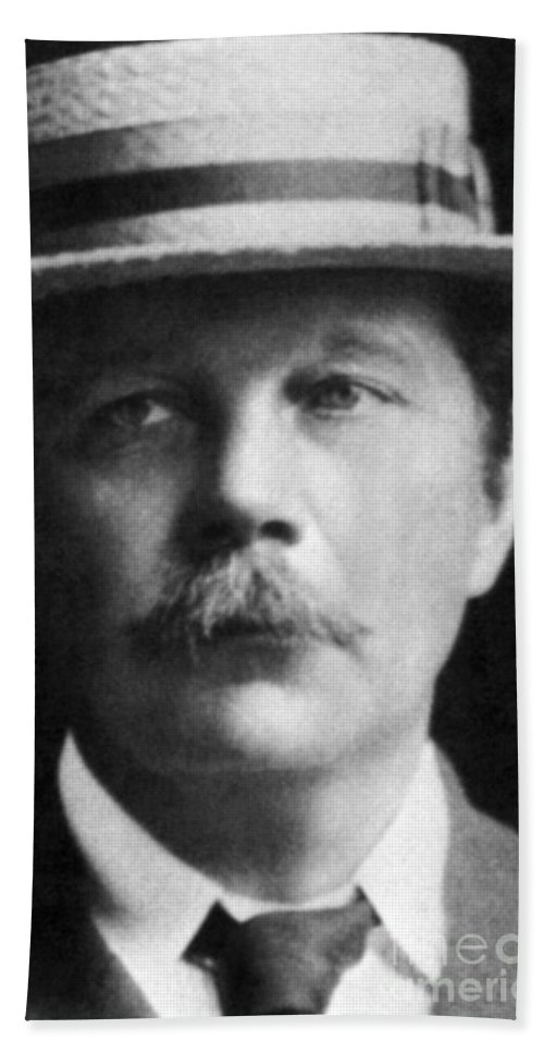 History Beach Towel featuring the photograph Arthur Conan Doyle, Scottish Author by Science Source