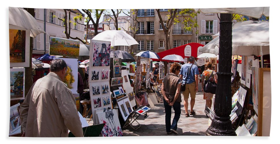 France Beach Towel featuring the photograph Artist Colony Of Montmartre by Jon Berghoff