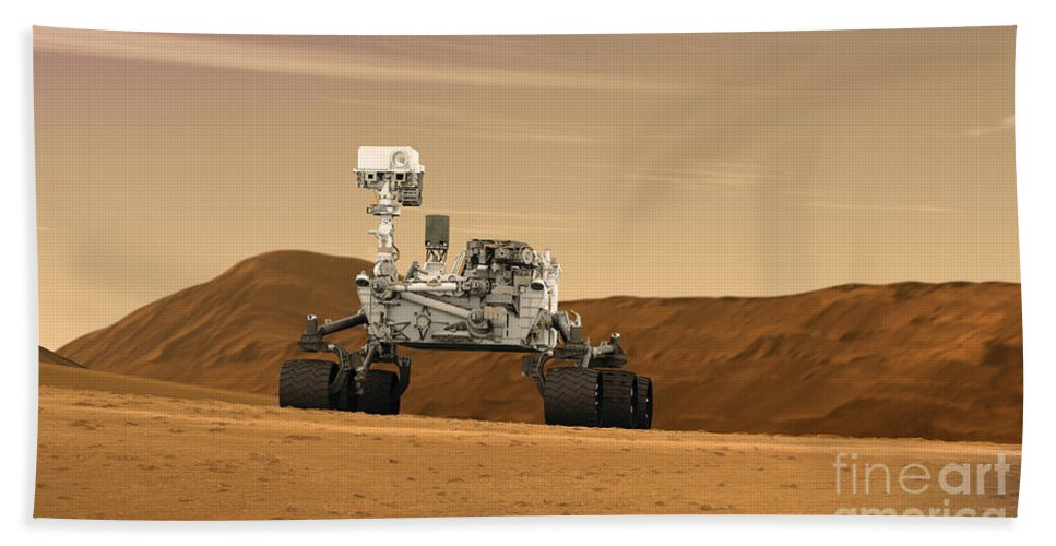 Mobility Beach Towel featuring the digital art Artist Concept Of Nasas Mars Science by Stocktrek Images