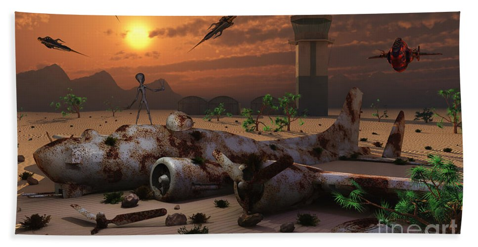 Imagination Beach Towel featuring the digital art Artists Concept Of A Science Fiction by Mark Stevenson