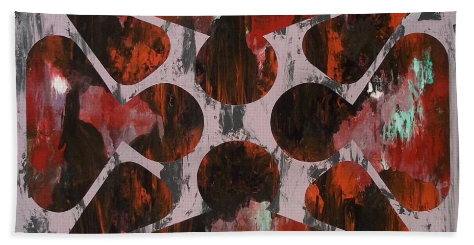 Abstract Paintings Beach Towel featuring the painting As A Bee by James Hamilton