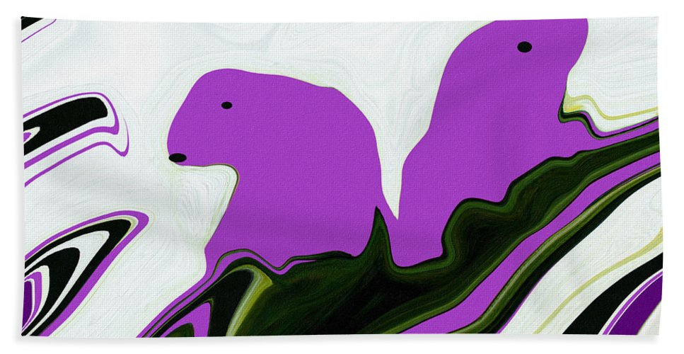 As The Ice Flows Beach Towel featuring the digital art As The Ice Flows by Barbara Griffin
