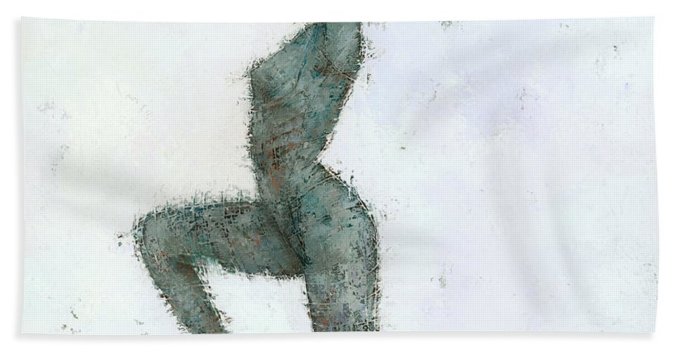 Figurative Beach Towel featuring the painting Astatine by Steve Mitchell