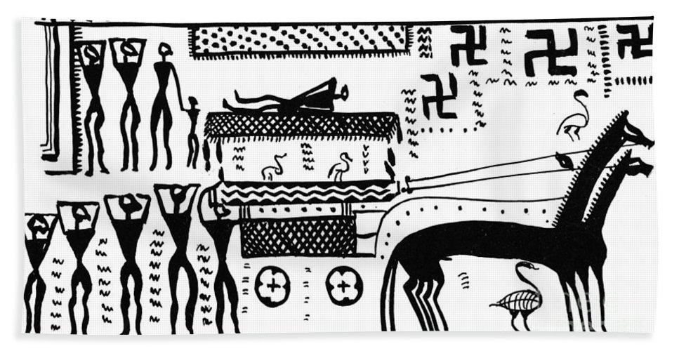 Historic Beach Towel featuring the photograph Athenian Chariot by Science Source