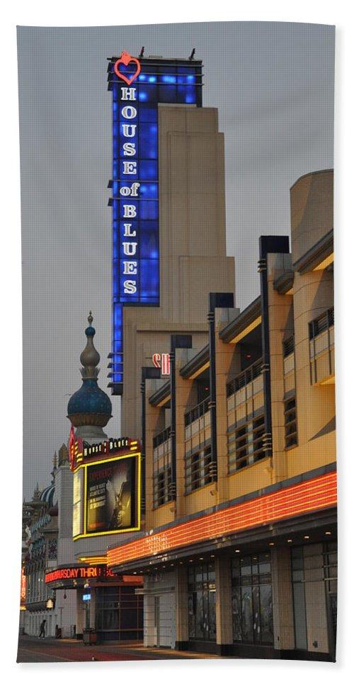 Atlantic City House Of Blues Beach Towel featuring the photograph Atlantic City House Of Blues by Bill Cannon