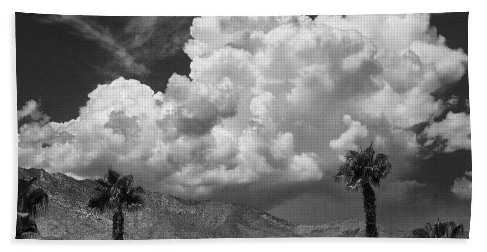 August Clouds Beach Towel featuring the photograph August Clouds Palm Springs by William Dey