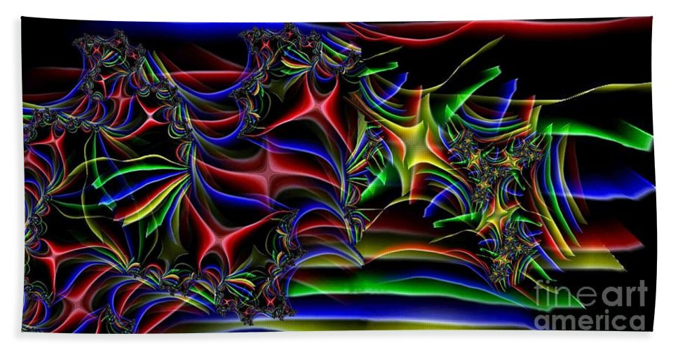 Abstract Beach Towel featuring the digital art Aurora by Ron Bissett