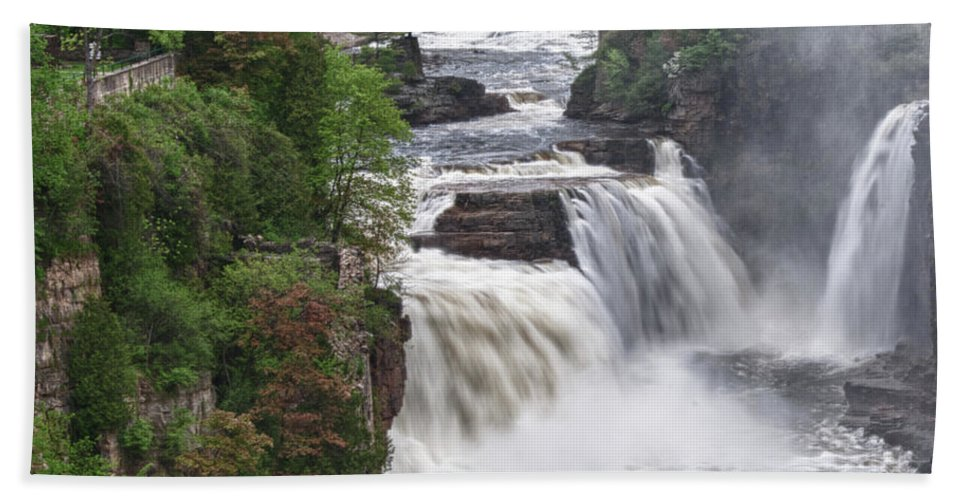 Ausable Chasm Beach Towel featuring the photograph Ausable Chasm 5172 by Guy Whiteley