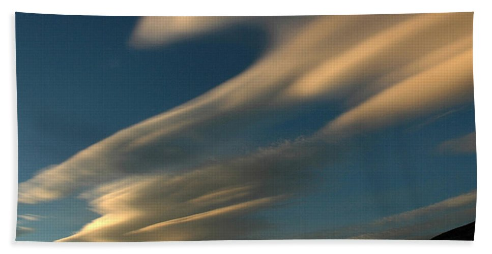 Autumn Beach Towel featuring the photograph Autumn Clouds Jasper 1 by Vivian Christopher