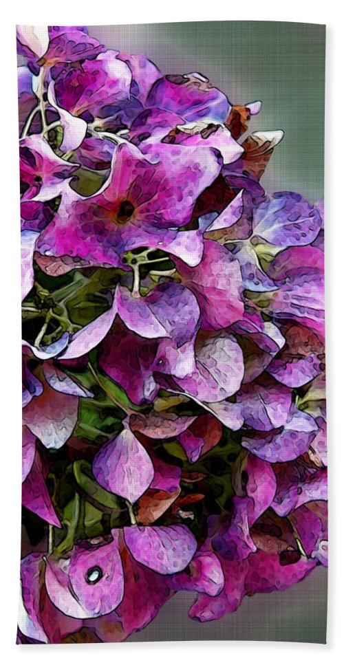 Nature Beach Towel featuring the digital art Autumn Purple Iv by Debbie Portwood
