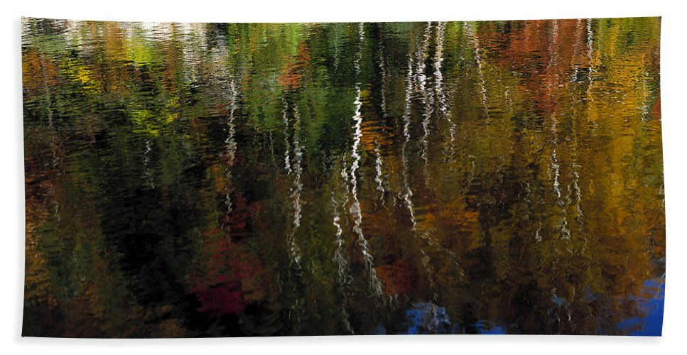 Autumn Beach Towel featuring the photograph Autumn Reflections by Mike Nellums