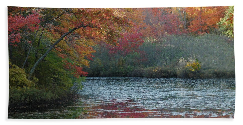 Autumn Beach Towel featuring the photograph Autumn Splendor 1 by Mike Nellums