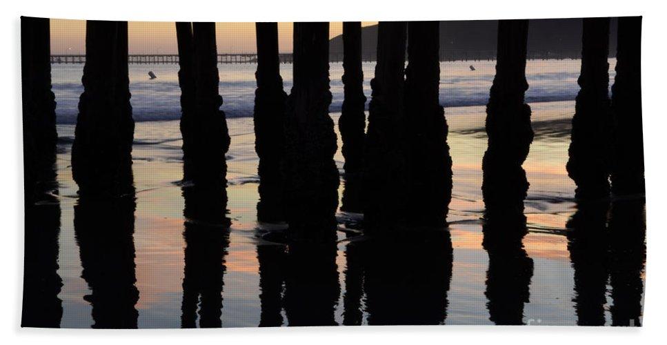 Avila Pier Beach Towel featuring the photograph Avila Beach Pier California 4 by Bob Christopher