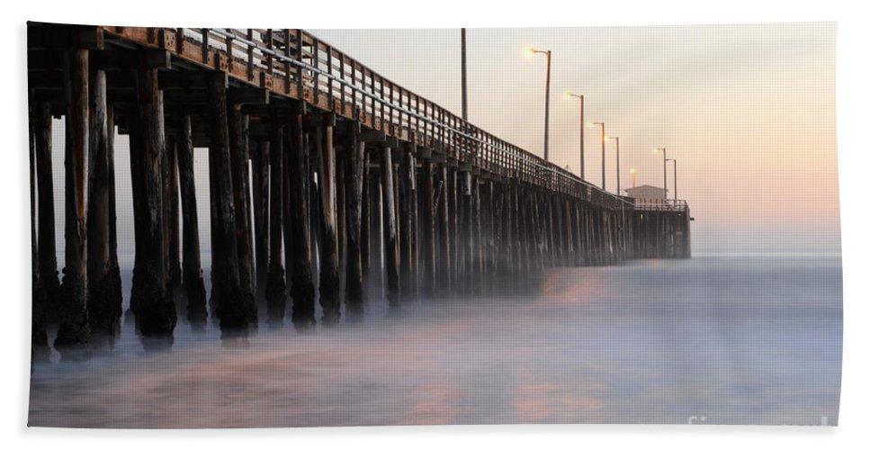 Avila Pier Beach Towel featuring the photograph Avila Beach Pier California 5 by Bob Christopher