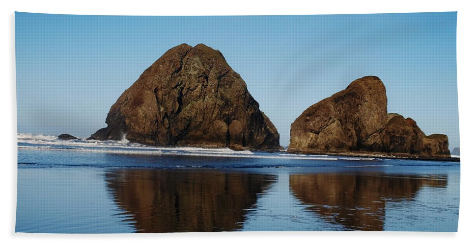 Coast Beach Towel featuring the photograph Awww Reflections How I Love Them So by Teri Schuster