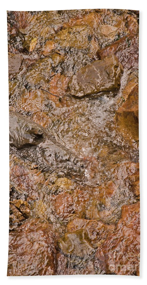 Water Beach Towel featuring the photograph Babbling Brook by Donna Greene
