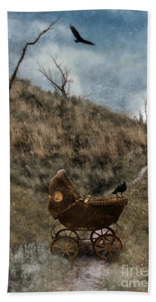Baby Buggy Beach Towel featuring the photograph Baby Buggy In Wilderness by Jill Battaglia