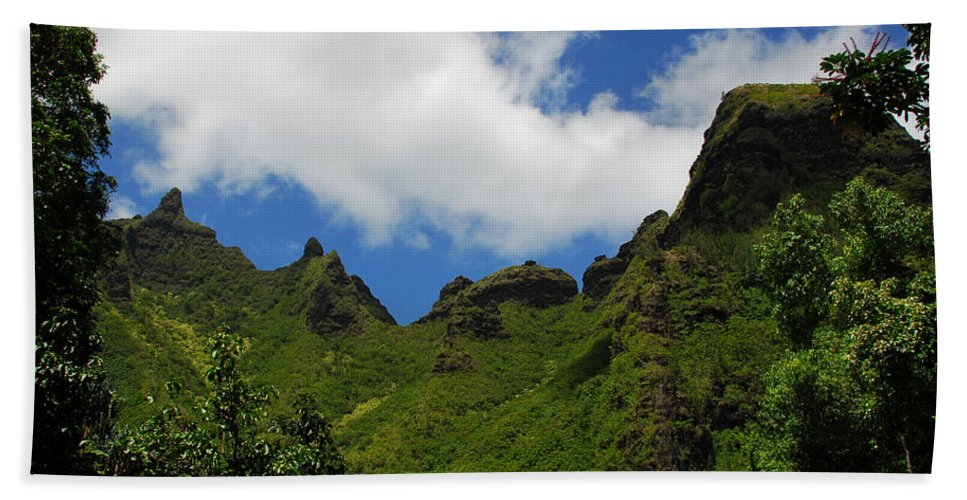 Napali Coast Beach Towel featuring the photograph Backside Of The Napali Coast by Lynn Bauer