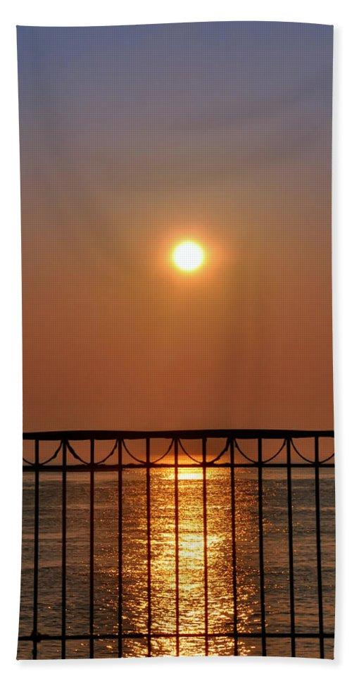 Balcony Sunrise Beach Towel featuring the photograph Balcony Sunrise by Bill Cannon