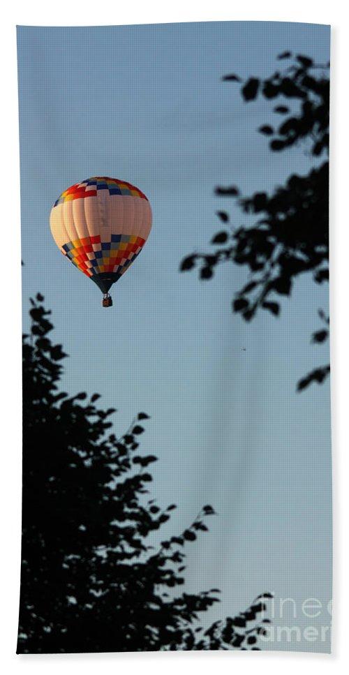 Hot Air Balloon Beach Towel featuring the photograph Balloon-7081 by Gary Gingrich Galleries