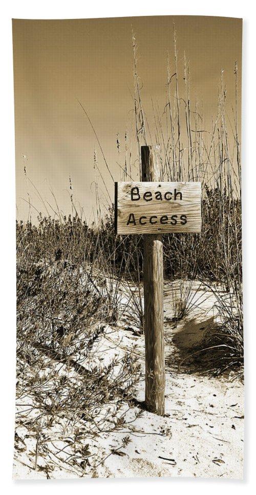 Beach Beach Towel featuring the photograph Beach Access by Christine Stonebridge