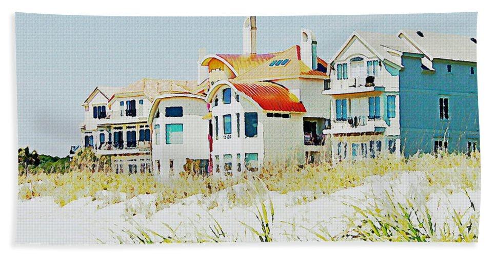 Houses Beach Towel featuring the photograph Beach House by Carol Bradley