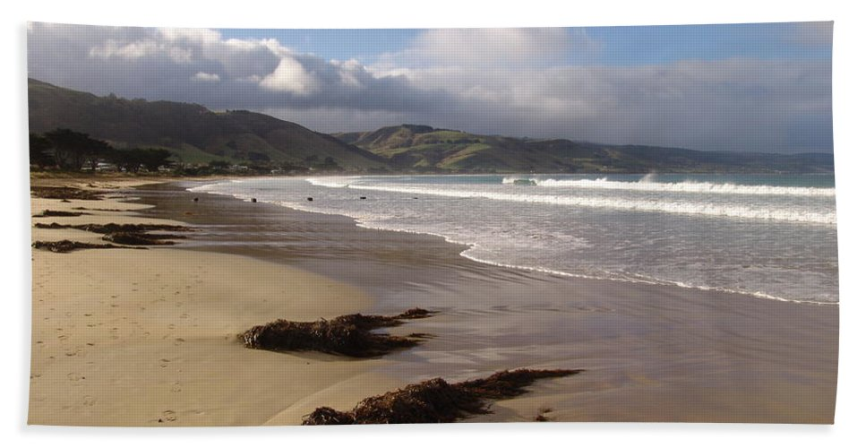 Landscape Beach Towel featuring the photograph Beach Surf by Ian Mcadie