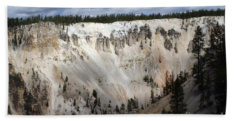 Grand Canyon Beach Towel featuring the photograph Beautiful Lighting On The Grand Canyon In Yellowstone by Living Color Photography Lorraine Lynch