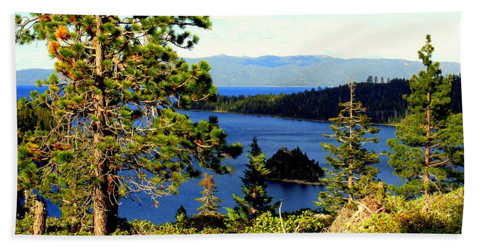 Lake Tahoe Beach Towel featuring the photograph Beautiful Tahoe by Lynn Bawden