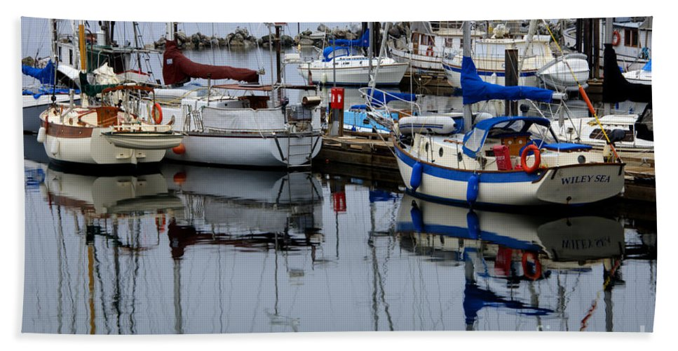 Fishing Boats Beach Towel featuring the photograph Beauty Of Boats by Bob Christopher