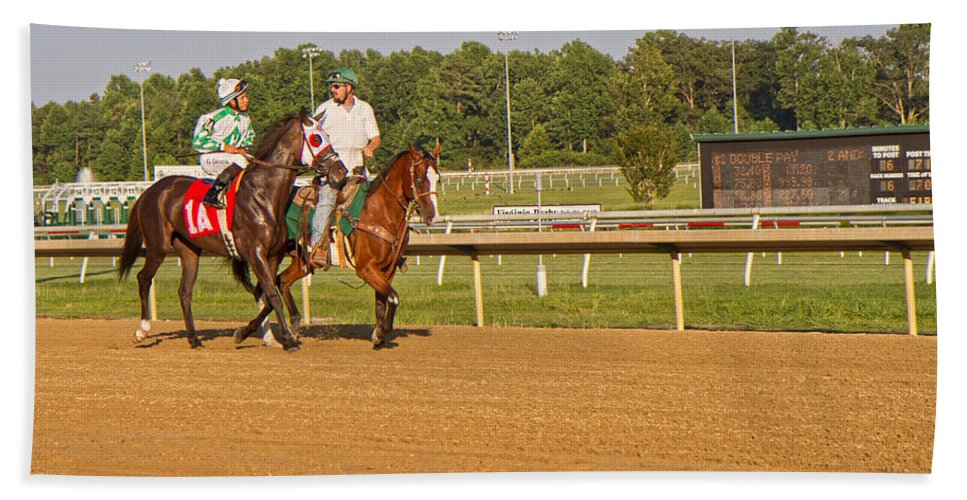 Horse Beach Towel featuring the photograph Before The Race by Betsy Knapp