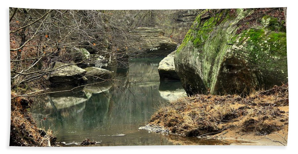 Creek Beach Towel featuring the photograph Bellsmith Creek by Marty Koch