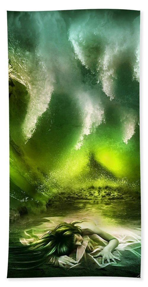 Animal Beach Towel featuring the digital art Beneath by Svetlana Sewell