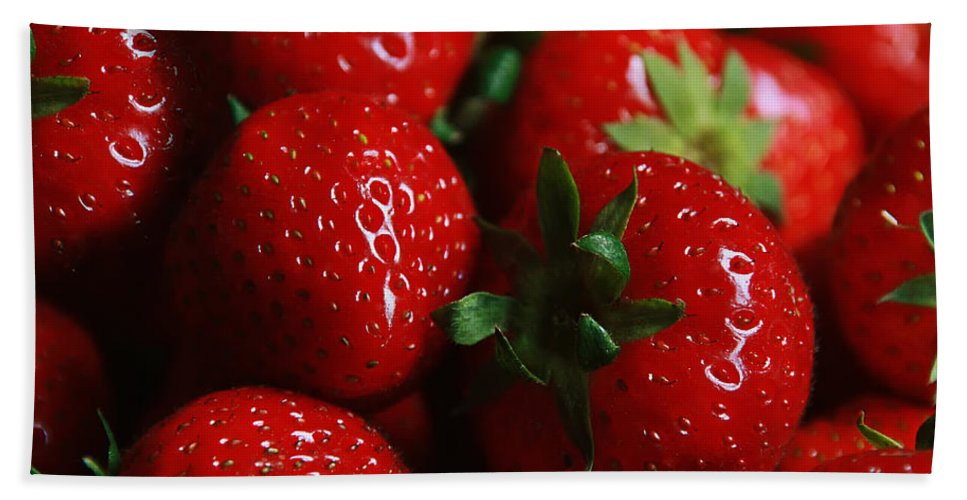 Strawberries Beach Towel featuring the photograph Berries by Claudia Moeckel