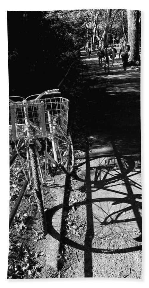 Bike Beach Towel featuring the photograph Bicycle Shadow 2 by Madeline Ellis