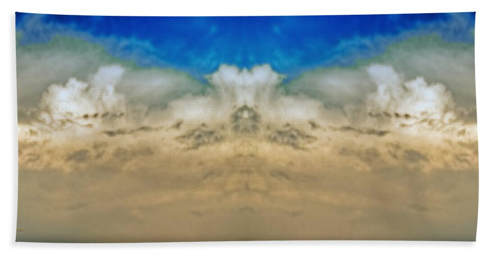 Sky Beach Towel featuring the photograph Big Ol Clouds Panorama by Chas Sinklier