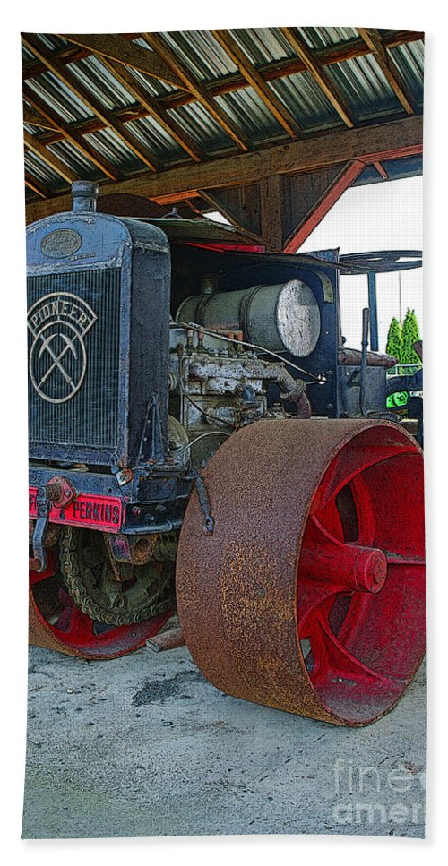 Tractors Beach Towel featuring the photograph Big Steel Wheel Tractor by Randy Harris