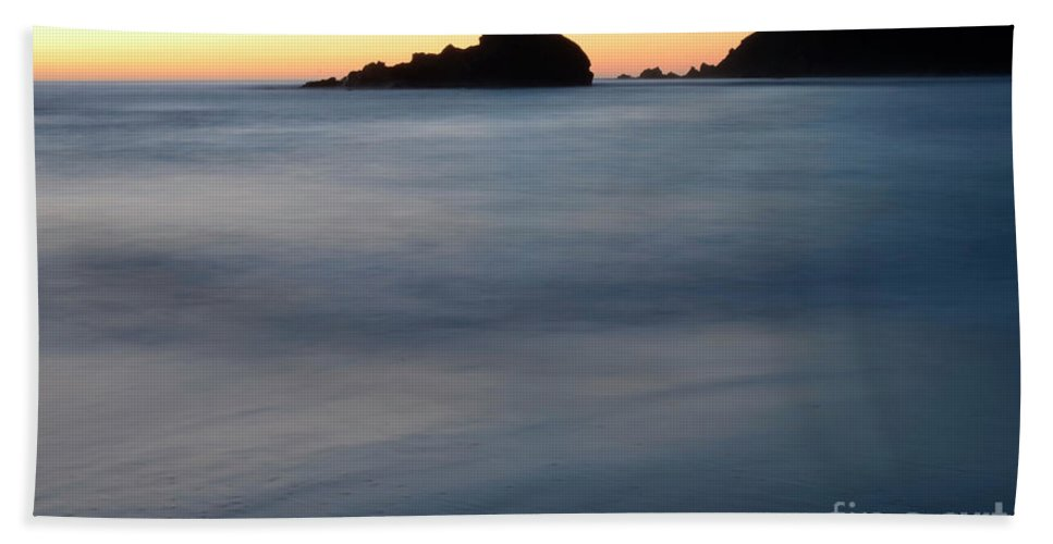 Pfeiffer Rock Beach Towel featuring the photograph Big Sur Silk by Bob Christopher