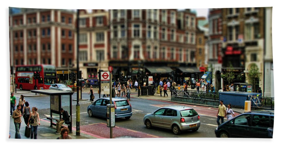 London Beach Towel featuring the photograph Bishopsgate by Heather Applegate